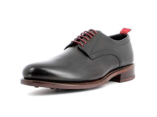 Gordon & Bros. Herren Schnürhalbschuhe Levet 6045, Männer Businessschuh, schnürung Business-Schuh anzugschuh Office maennliche,Grey,46 EU / 12 UK