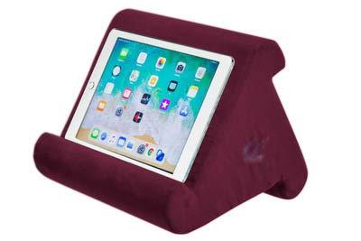 Mylujo Pad Kussen Zachte Pad Leesbeugel voor iPad Telefoon Laptop Computer Ondersteuning wijn rood