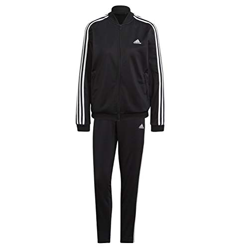 adidas Damen ESSENTIALS Trainingsjacke , Nero Bianco, X-Small