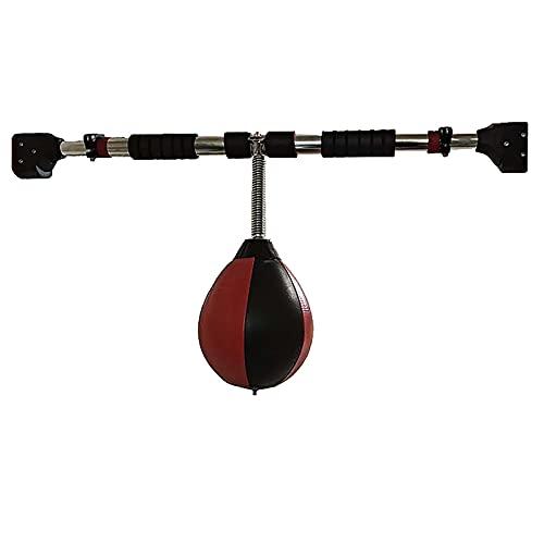 Lqdp Punching Ball Bola de Boxeo para Adultos, Saco de Boxeo con Forma de Pera para Colgar en la Puerta con Varilla de Gravedad Ajustable, 75-95 cm / 29,5-37,4 Pulgadas de Largo