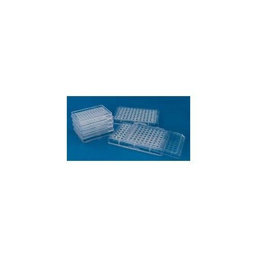 MicroWell 96-Well Plate, Flat with Lid, 0.4ml, 50/CS