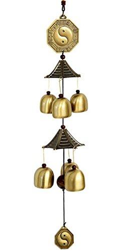 Copper Alloy Temple Bells Carillons éoliens 2 Couche