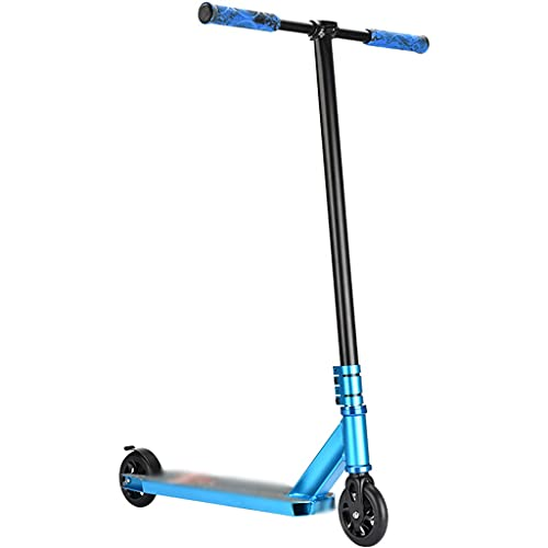 Patinete Scooter Freestyle Nivel Iniciación Scooter Profesional De Deportes Extremos, Scooters Deportivos De Fitness Al Aire Libre, Park Ejercicio Trick Scooters (Color : Blue, Size : 65 * 52 * 93m)