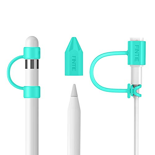 Fintie 3 Pieces Bundle for iPad Pencil Cap Holder, Nib Cover, Adapter Tether for iPad Pencil 1st Generation, iPad 10.2, iPad 9.7, iPad Air 3rd Gen/iPad Pro 10.5, iPad Mini 5 Pencil, Mint Green