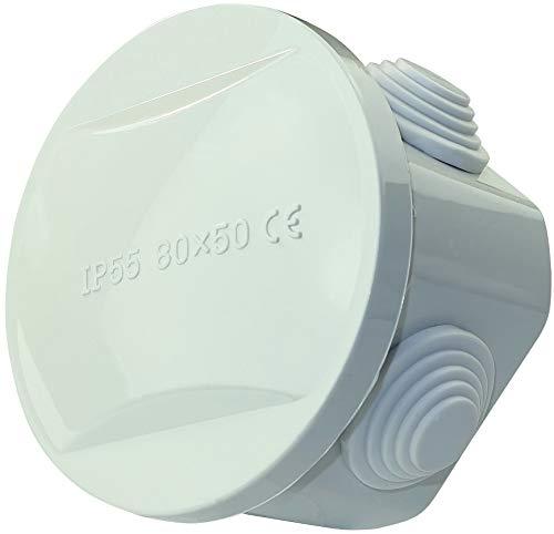 AERZETIX - Caja de Derivación Eléctrica Redonda 86x75x47mm - Caja de Empalme/Repartición/Ronda/Distribución...