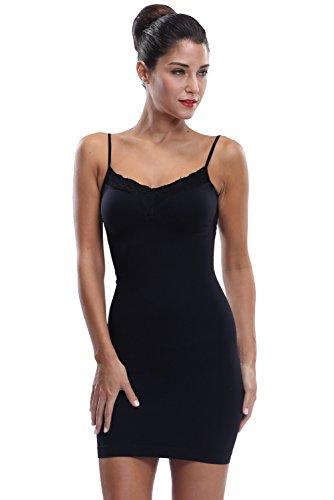 Franato Women's Control Full Slip Dress Shaperwear Slim Body Shaper Smoother Black
