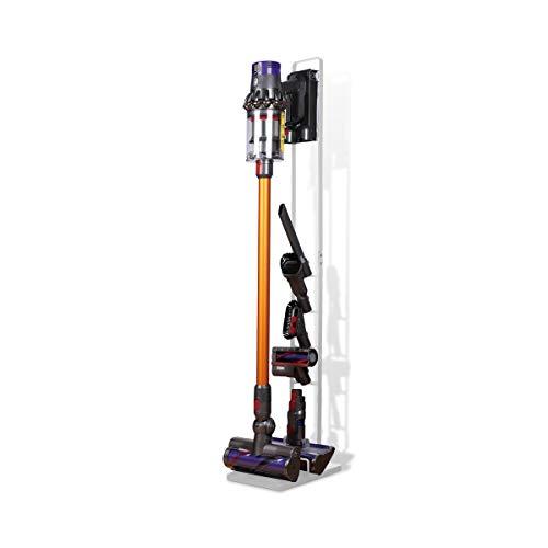 LANMU Floor Stand Organizer con supporto per Dyson V11 V10 V8 V7 V6 senza fili Aspirapolvere parti di ricambio (bianco, senza foratura fori)