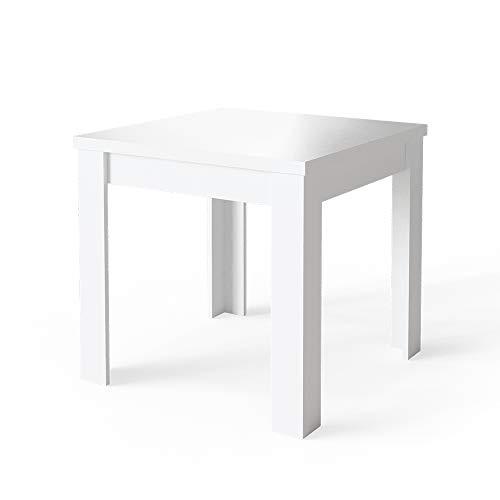 Vicco Esstisch Esszimmertisch Küchentisch Namos 80x80cm klein quadratisch (Weiß)