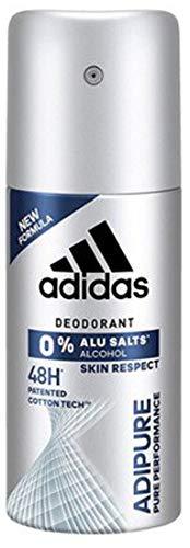adidas adipure Deo Bodyspray für Herren, Deodorant ohne Aluminium & Alkohol für 48h effektiven Deo-Schutz, pH-hautfreundlich, 35 ml