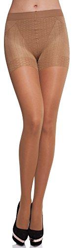 Merry Style Damen figurformende Strumpfhose MS 128 40 DEN (Gazele, L (40-44))