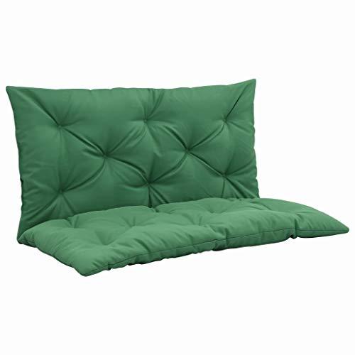 Tidyard Coussin pour Balancelle Douce et Confortable Style Moderne Vert 100 cm