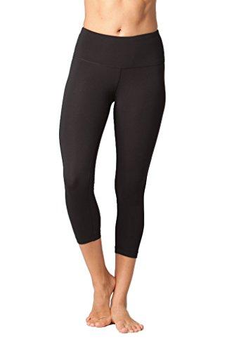 Yogalicious High Waist Ultra Soft Lightweight Capris - High Rise Yoga Pants - Iced Mauve LUX - XS