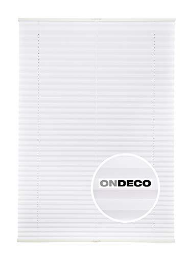 Plissee Klemmfix für Tür und Fenster Sonderposten Weiß 80x130 cm