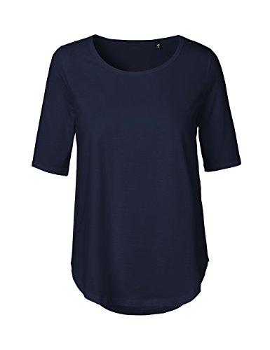 Green Cat- Damen Halbarm T-Shirt, 100% Bio-Baumwolle. Fairtrade, Oeko-Tex und Ecolabel Zertifiziert, Textilfarbe: Navy, Gr.: M
