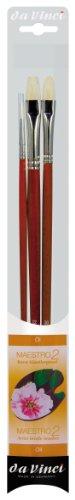 DA VINCI 5228 Series Artist Brush Set, Cerdas, Rojo/Naranja/Negro/Blanco, 30 x 30 x 30 cm