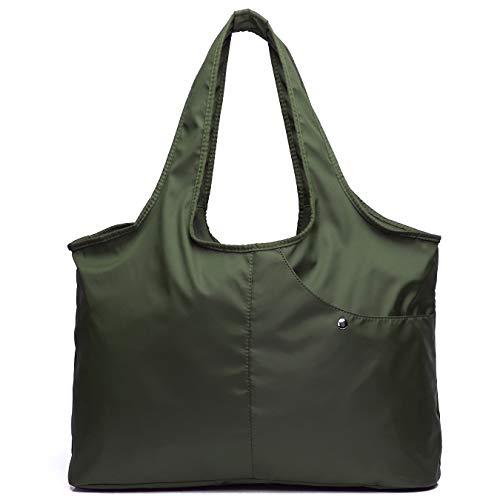 Women Fashion Large Tote Shoulder Handbag Waterproof Tote Bag Multi-function Nylon Bag for Gym Travel Work Shopping
