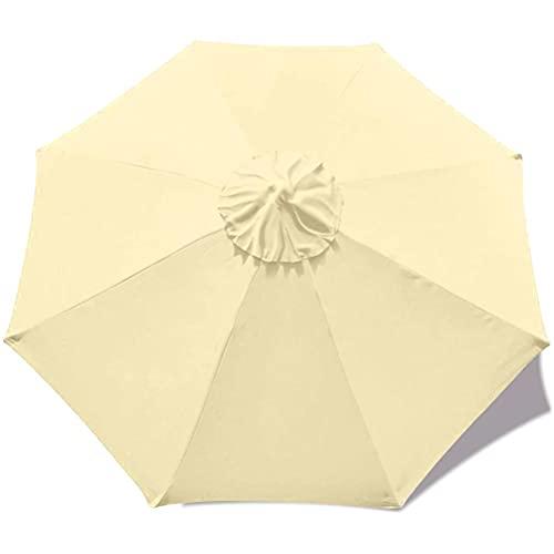 Repuesto de toldo para sombrilla de 300 cm, poliéster, protección UV, toldo de repuesto, toldo de paraguas, protección solar, repuesto para mesa de jardín, terraza, patio trasero