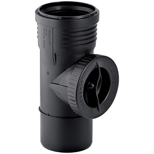 Geberit Abflussrohr Silent-PP Rohr, Bogen, Abzweig, Übergang, Gleitmittel, Muffe (Reinigungsöffnung 90° mit Muffe, DN 90)