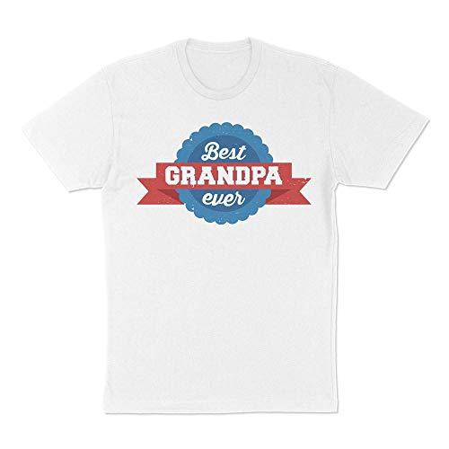 Best Grandpa Ever Award Shirt Unisex 3X-Large White