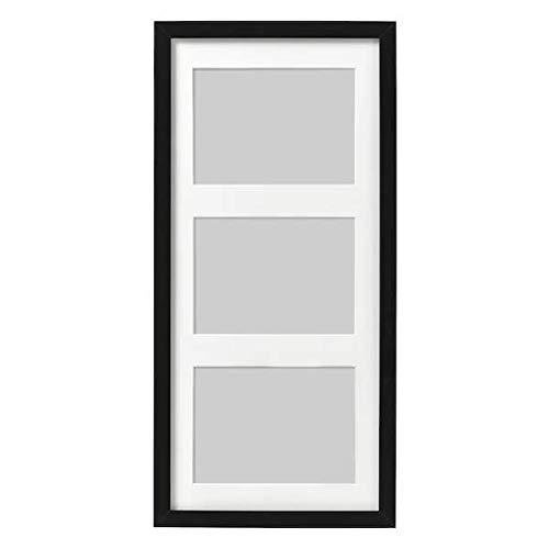 IKEA RIBBA Rahmen für 3 Bilder in schwarz; (50x23cm)