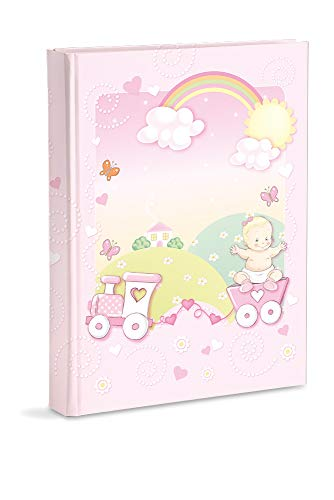 Mareli - Álbum de fotos para bebé, rosa, 21 x 28 cm, con bolsillos, capacidad para 200 fotos de 13 x 18 cm