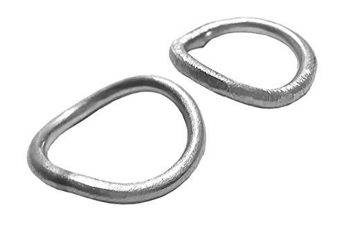 anillo irregular en plata para ser usado solo o con otros