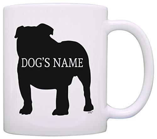Taza Mug TazasRegalo personalizado para dueño de perro Bulldog inglés Añadir nombre de perro Amante de perros 330Ml