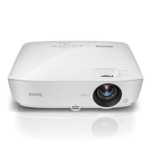 BenQ Full HD 1080p Business Projector (MH535A), DLP, 3600 Lumens, 15,000:1 Contrast, Dual HDMI, 15,000hrs Lamp Life, 3D Compatible, 1.2X Zoom, 1920x1080, 2W Speaker (Renewed)
