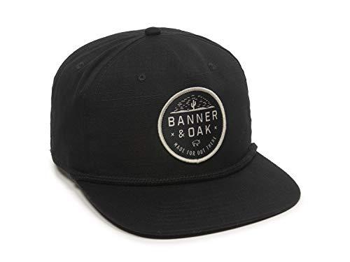 Mojave Scout Patch Snapback Hat - Adjustable Baseball Cap w/Plastic Snapback Closure (Black)