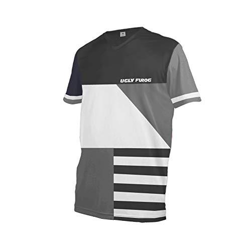 Uglyfrog Rennradtrikots 2020 MTB Downhill Trikot Kompressionsshirt Herren Kurzarm Fitness T-Shirt Freizeit Männer Laufshirt Printed und Klassisch Top Funktionswäsche