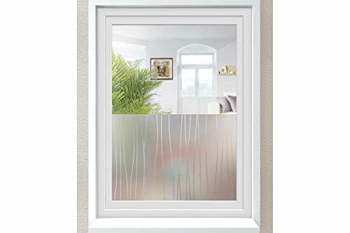 Unbekannt Melinera® Fenster Sichschuzfolie Milchglasfolie Selbstklebend 67 x 200cm Wellen