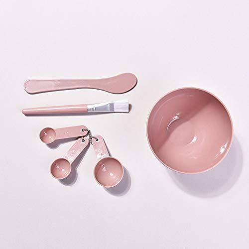 Ensemble de bol de masque Silicone Masque Jatte, Masque de parfum mélange boue Set Outil souple Masque Bowl, Masque brosse, masque bâton, tasse à mesurer, Ensemble de 4 Trousse d'outils de mélange de
