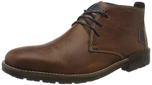 Rieker Herren F1310 Klassische Stiefel, Braun (Amaretto/Navy/Ozean 24), 46 EU