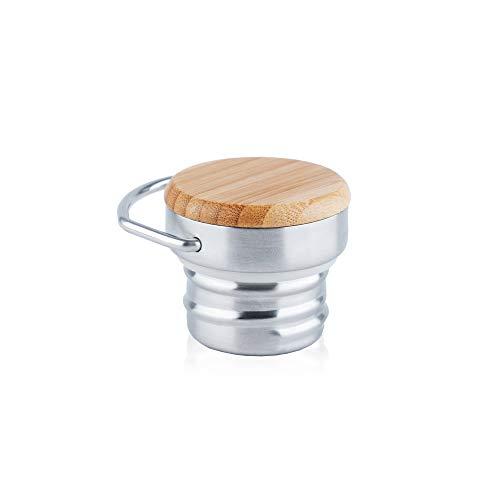 Bamboe deksel Ideaal voor RVS waterfles geïsoleerd/vacuüm/dubbelwandig