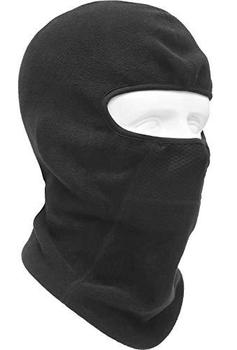 フリース フェイスマスク 防寒 防風 バラクラバ サーモ 目出し帽 UVカット ネックウォーマー フェイスガード フルフェイス マスク 自転車 バイク アウトドア サバゲー Type:WFM-BIS (BLACK)