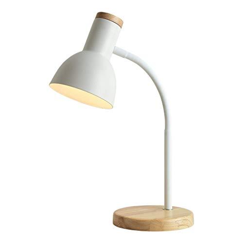 Fevilady Lámpara de mesa Lámpara de escritorio Nordic Creative LED Protección Ocular Lámpara de mesa para leer en dormitorio, trabajar, estudiar, hogar, luz blanca cálida