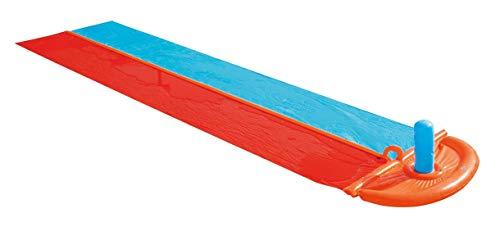 Bestway H2OGO! Doppel-Wasserrutsche mit Fontäne am Ziel 1,2,3 Go!, 488 cm