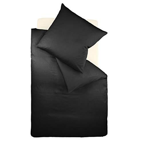 fleuresse Interlock-Jersey-Bettwäsche Colours schwarz 941 Größe 135x200 cm