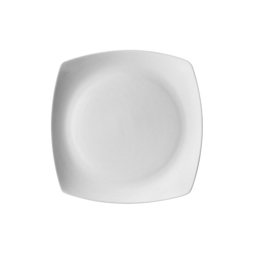 10 Strawberry Street Aurora Square 6' Bread & Butter Plate, Set of 6, White