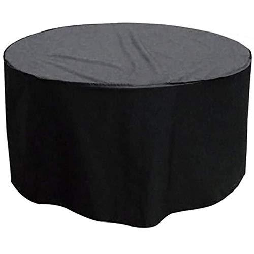 WLKQ Cubierta de Muebles Redonda Grande - Funda Mesa Jardin - Protector para Sofá Jardín Impermeable con Funda para Sillas Mesa Patio Resistente Duradero