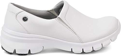 Suecos Nova, Zapatos de Trabajo Mujer, Blanco (White), 36 EU