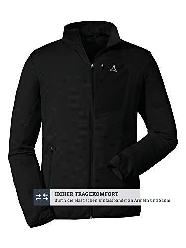 Schöffel Herren Fleece Jacket Savoyen2 warme und Bequeme Fleecejacke für Männer, atmungsaktive und geruchshemmende Herrenjacke mit praktischen Taschen, Schwarz (Black), 52