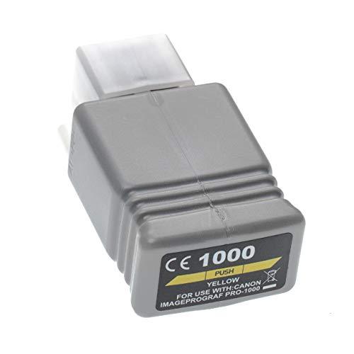 vhbw Cartucho de Tinta Amarillo reemplaza Canon PFI-1000 Y, PFI-1000Y - Cartucho para Impresora, 80ml+Chip