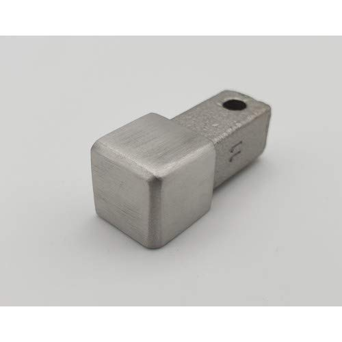 Eckstück Quadratprofil Innen-& Außenecke 11 mm gebürstet für Edelstahlschienen Rotthues Fliesenschiene
