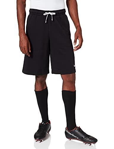 Nike Team Club 19 Fleece Pantaloncino, Uomo, Black/Black/White/White, M