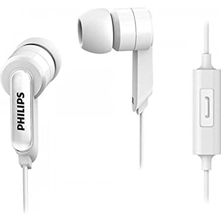 Philips SHE1405WT/94 in-Ear Wired Headphones with Mic (White)