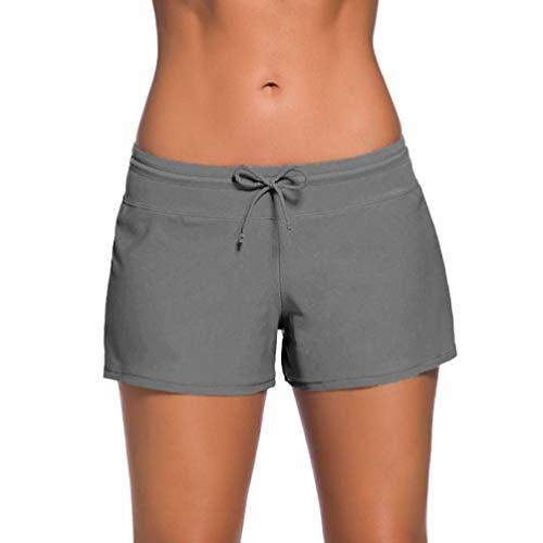BESPORTBLE Pantalones Cortos de Baño para Mujer Pantalones Cortos de Playa con Cordón...