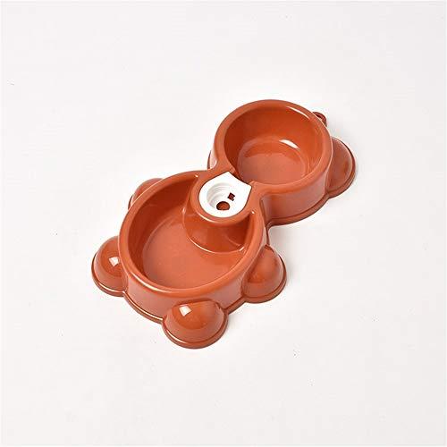 DD Huisdier Bowl Huisdier Bowl Set Voor Kleine Grote Honden & Katten Huisdier Feeding Dubbele Bowl Feeder Bowl Opslag Container Langzaam Eten Niet Slip, Unified size, Chocolade