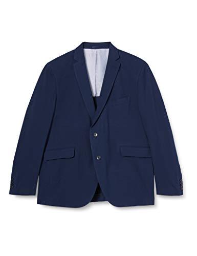 Hackett London Pique Knit Chaqueta, 595navy, 50 Long para Hombre
