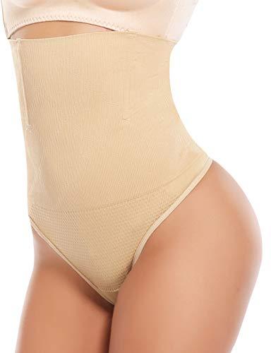 SHAPERIN Braguitas Moldeadoras para Mujer Cintura Alta Tanga Braguitas Pantalones Control de Barriga Sin Costuras Adelgazamiento Fajas